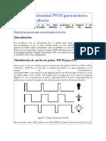 Control de Velocidad PWM Para Motores de Corriente Directa