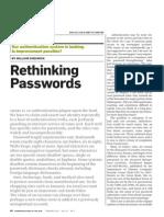 Rethinking Passwords