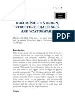 Kiba Music Origins Structure Challenges and Way Forward