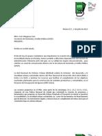 """Carta 'Queremos lana para la ciudad humana"""" entregada al Secretario de Hacienda y Crédito Público"""