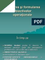 Stabilirea Si Formularea Obiectivelor Operationale