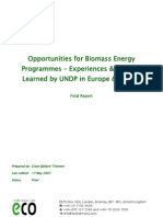 Opportunities for biomass energy programmes