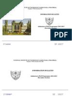 Ph.D Information Bulletin 2012(Dec Session)