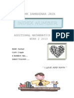 ADD MATHS Project 2013 Index Number