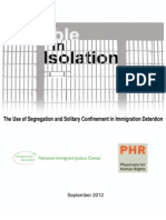 Invisible in Isolation-The Use of Segregation and Solitary Confinement in Immigration Detention