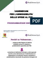 Presentazione Vademecum MLPS