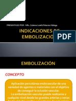 INDICACIONES DE EMBOLIZACIÓN