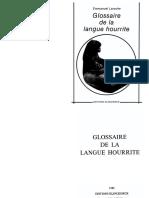 Laroche - Glossaire de la langue hourrite