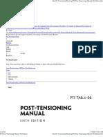 PTI Post-Tensioning Manual 6th Edition