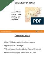China Capital Markets - PE in China