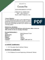 Curriculum Vitae 001