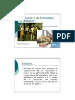 Tema 01 - Introduccion a Las Tecnologias de Soldadura