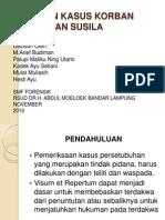 Laporan Kasus Korban Kejahatan Susila