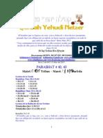 Parashat Matot-Masei # 42-43 Adul 6013