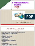 Formal Correspondence Writing