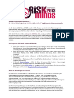 Review Corporate Risk Minds 2013