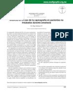 Avances en el uso de la capnografía en pacientes no  intubados durante anestesia