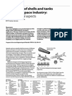 The Design of Shells and Tanks in the Aerospace Industry, Some Practical Aspects