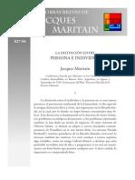 La distincion entre Persona e Individuo - Jacques Maritain.pdf