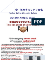 Nuclear Safety & Security Culture April 2013