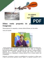 Dilma Envia Proposta de Plebiscito Ao Congresso