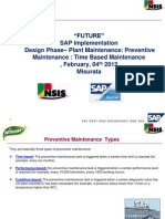 ALNASEEM - SAP Implementation - PM Preventive Maintenance BP Week 31.01.2013 V1