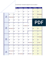 2013 Weekly Calendar With Holidays Monday