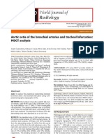 Aortic Ostia of the Bronchial Arteries and Tracheal Bifurcation MDCT Analysis