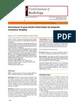 Assessment of Gray Matter Heterotopia by Magnetic Resonance Imaging