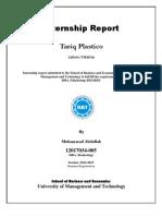Tariq Plastico Internship Report