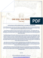 One God One People June 2013