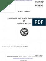 Military Handbook for Manganese Phosphate and Black Oxide