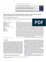 Bioremediation of Acidic and Metalliferous Drainage (AMD) Through Organic Carbon Amendment by Municipal Sewage and Green Waste McCullough 2011 Journal of Environmental Management