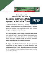 Familias del Puerto Matamorosapoyan a Salvador Treviño
