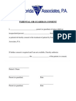 Parent Guardian Consent Form