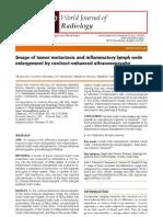 Image of Tumor Metastasis and Inflammatory Lymph Node Enlargement by Contrast-Enhanced Ultrasonography