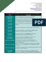 Cronograma de Actividades de Fin e Inicio de Curso