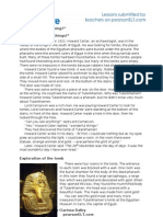 Tutankhamun Worksheet