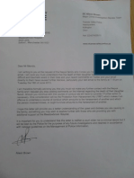 Thames Valley Police Letter re