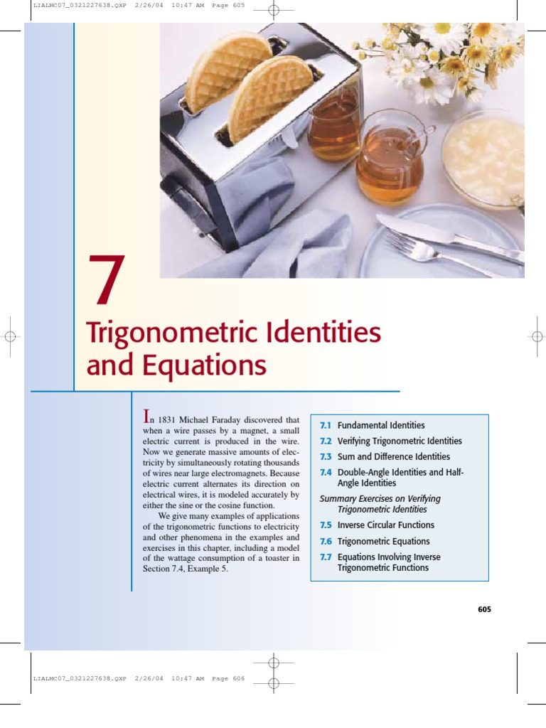 Trigonometric Identities And Equation Trigonometric Functions Sine
