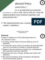 Unit -i Industrial Policy