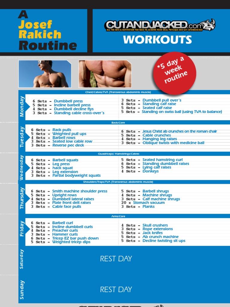 Josef Rakich Workout PDF