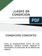 CLASES DE CONDICIÓN