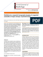 Multidetector Computed Tomography Imaging of Congenital Anomalies of Major Airways a Pictorial Essay