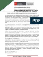 MEGAOPERATIVOS PERMITIERON DESARTICULAR 157 BANDAS CRIMINALES EN JUNIO INFORMÓ MINISTRO DEL INTERIOR