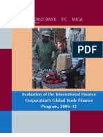 Evaluation of the International Finance Corporation's Global Trade Finance Program, 2006–12