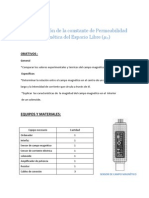5º INFORME FISICA II - DETERMINACION DE CTE DE PERMEABILIDAD MAGNETICA