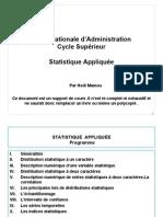 Statistiques  - Chapitre I - Generalités