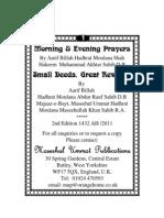Small Deeds, Great Rewards By Hadhrat Moulana Abdur Rauf Sahib D.B
