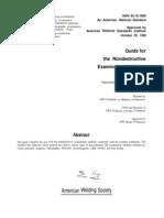 Aws b1.10-1999 Guide for Non-Destructive Examination of Weld